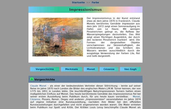 Vorschau von www.seilnacht.com, Impressionismus - Geschichte und Merkmale