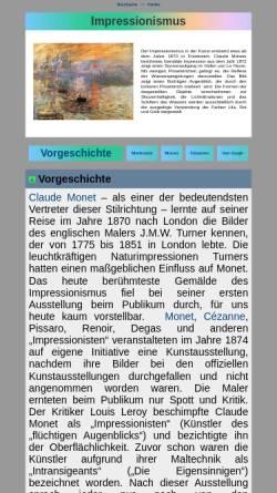 Vorschau der mobilen Webseite www.seilnacht.com, Impressionismus - Geschichte und Merkmale