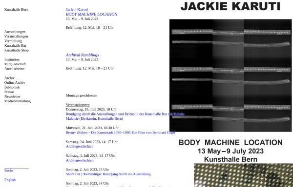 Vorschau von www.kunsthalle-bern.ch, Bern, Kunsthalle