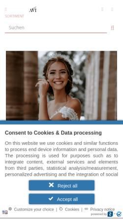 Vorschau der mobilen Webseite www.beysas-mode.de, Beysas Braut & Abendmode, Yusuf Yumrukaya