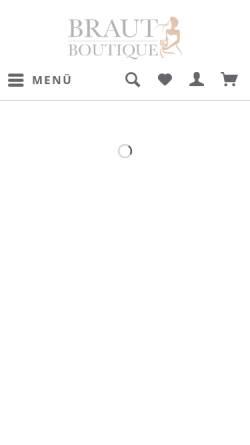 Vorschau der mobilen Webseite www.braut-boutique.com, Braut Boutique, Diana Künne