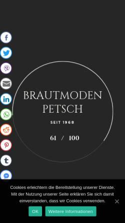 Vorschau der mobilen Webseite www.brautmode-berlin.de, Brautmode Petsch