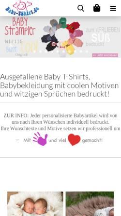 Vorschau der mobilen Webseite www.baby-tshirt.de, Baby T-Shirt, Ludwig Gutsmiedl