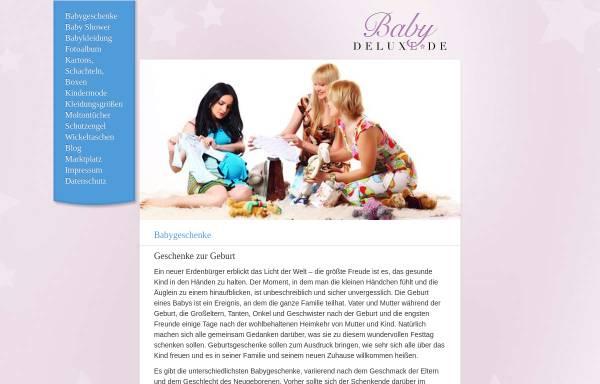 Vorschau von www.babydeluxe.de, Babydeluxe eK