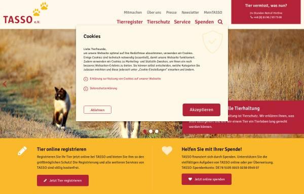 Vorschau von www.tasso.net, Tasso e.V.