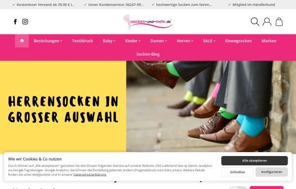Vorschau von www.socken-und-mehr.de, Socken und mehr e.K.