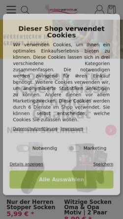 Vorschau der mobilen Webseite www.socken-und-mehr.de, Socken und mehr e.K.
