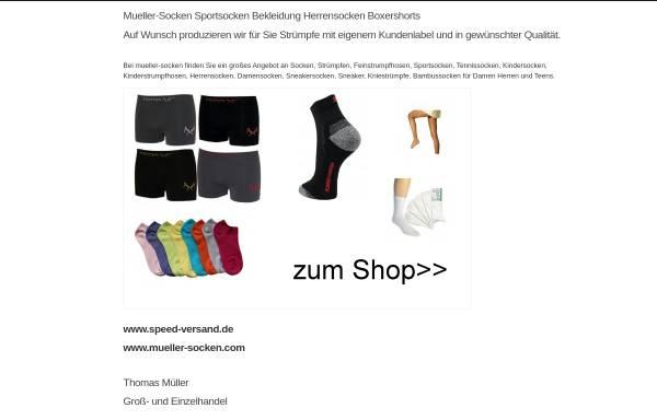 Vorschau von www.mueller-socken.com, Mueller-Socken.com, Thomas Müller