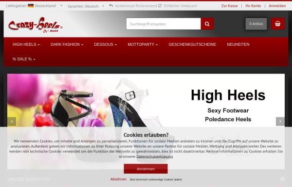 Vorschau von www.crazy-heels.de, Crazy-Heels, Stefan Dörr