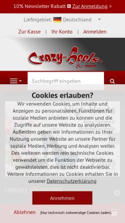 Vorschau der mobilen Webseite www.crazy-heels.de, Crazy-Heels, Stefan Dörr
