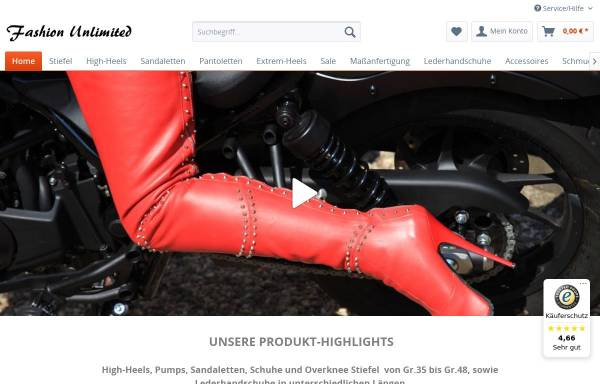 Vorschau von www.high-heels-center.de, Fashion Unlimited - First in High Heels