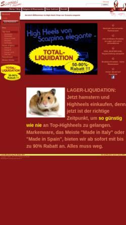 Vorschau der mobilen Webseite www.scarpina.ch, Scarpina elegante
