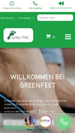 Vorschau der mobilen Webseite www.einlagen-shop.com, Einlagen-Shop, Marco Vathke