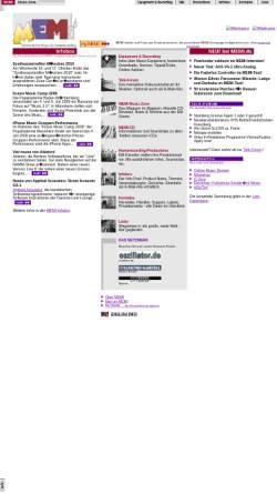 Vorschau der mobilen Webseite memi.com, Memi