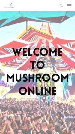 Vorschau der mobilen Webseite www.mushroom-online.com, mushroom online
