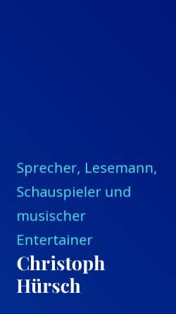 Vorschau der mobilen Webseite www.die-stimme.ch, Hürsch, Christoph