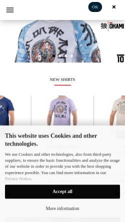 Vorschau der mobilen Webseite united-fightwear.com, United Fightwear