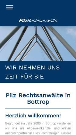 Vorschau der mobilen Webseite www.pilz-rechtsanwaelte.de, Pilz Rechtsanwälte