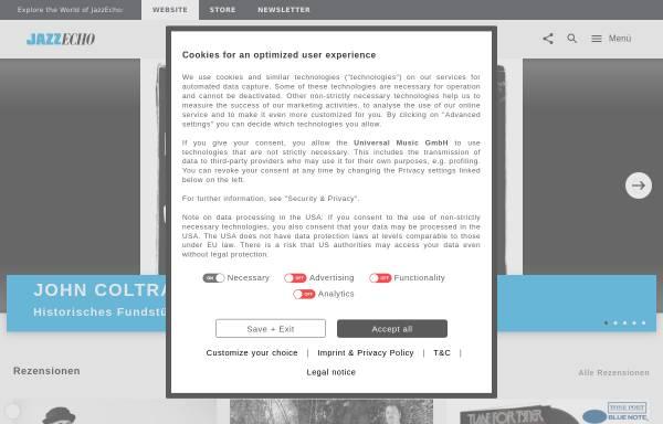 Vorschau von www.jazzecho.de, JazzEcho