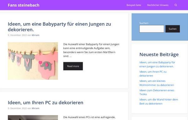 Vorschau von www.fanshopsteinebach.de, Shop für Fußballartikel und Fanbedarf
