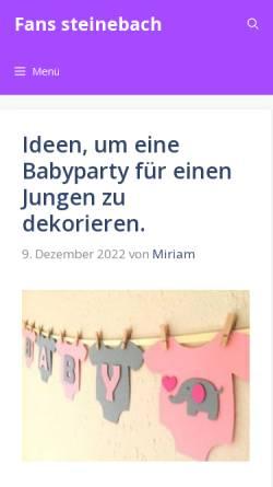 Vorschau der mobilen Webseite www.fanshopsteinebach.de, Shop für Fußballartikel und Fanbedarf