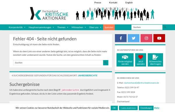 Vorschau von kritischeaktionaere.de, Kritische Aktionäre