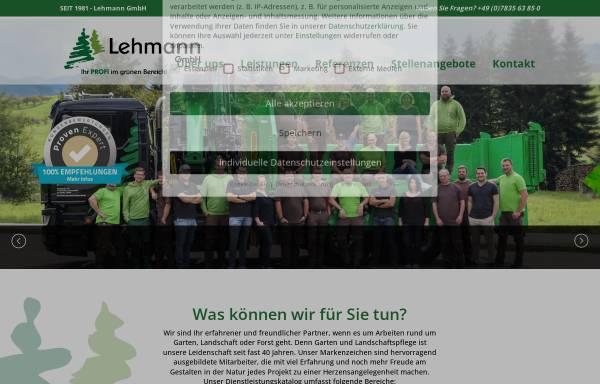 Vorschau von lehmann-baumundgarten.de, Josef Lehmann - Tannengrünversand GmbH