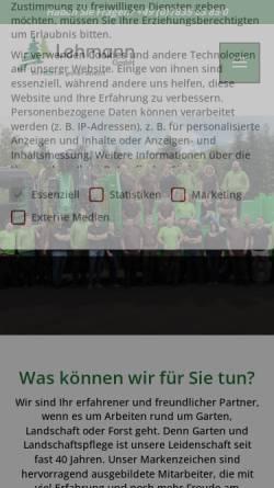 Vorschau der mobilen Webseite lehmann-baumundgarten.de, Josef Lehmann - Tannengrünversand GmbH