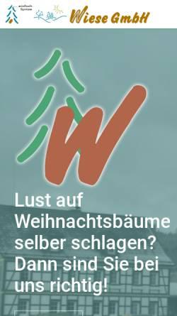 Vorschau der mobilen Webseite www.norbert-wiese.de, Wiese GmbH