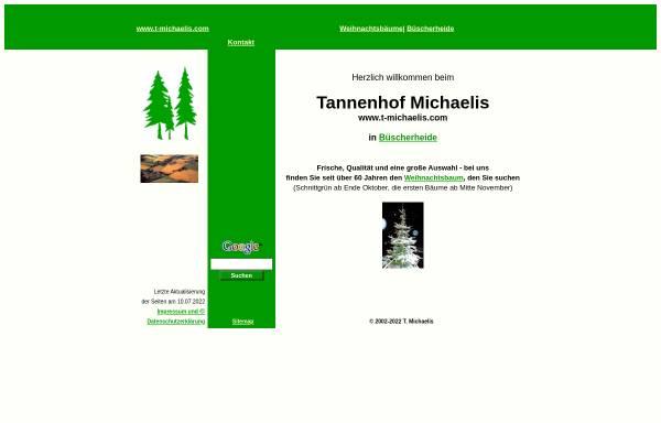 Vorschau von www.t-michaelis.com, Tannenhof Michaelis - Weihnachtsbäume und Planwagenfahrten
