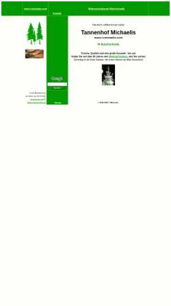 Vorschau der mobilen Webseite www.t-michaelis.com, Tannenhof Michaelis - Weihnachtsbäume und Planwagenfahrten