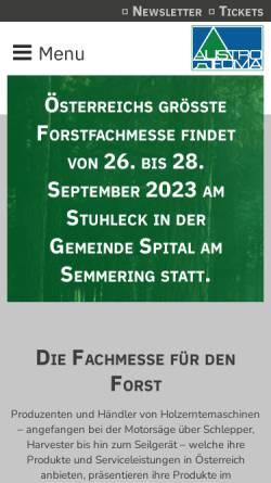 Vorschau der mobilen Webseite www.austrofoma.at, Austrofoma