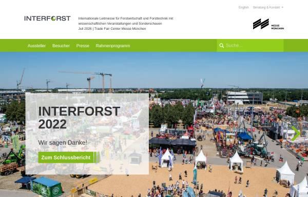 Vorschau von www.interforst.de, Interforst
