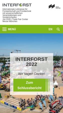 Vorschau der mobilen Webseite www.interforst.de, Interforst