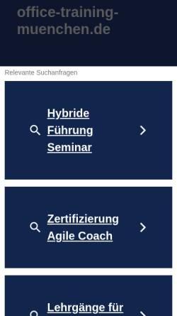 Vorschau der mobilen Webseite www.office-training-muenchen.de, Office-Training-München