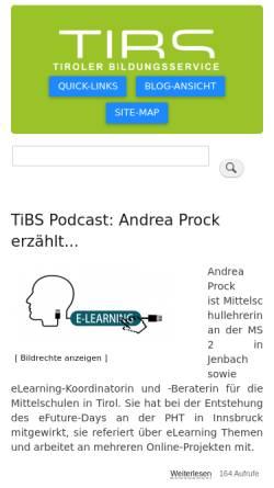 Vorschau der mobilen Webseite tibs.at, Tiroler Bildungsservice