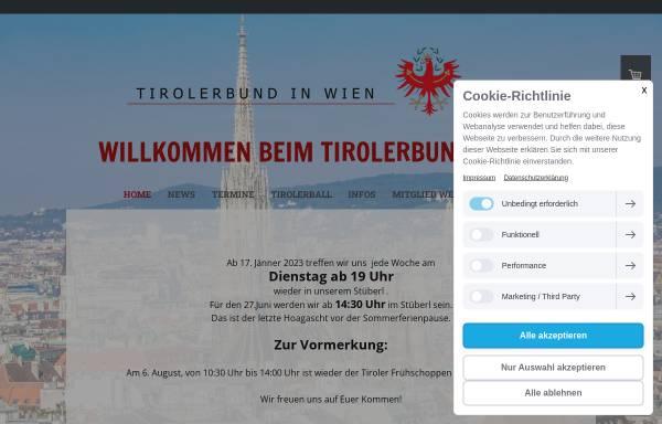 Vorschau von www.tirolerbund.eu, Tirolerbund - Verein der Tiroler in Wien