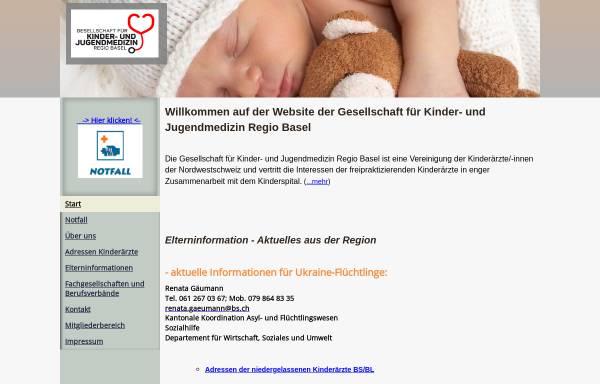 Vorschau von www.kindermedizin-regiobasel.ch, Gesellschaft für Kinder- und Jugendmedizin Regio Basel