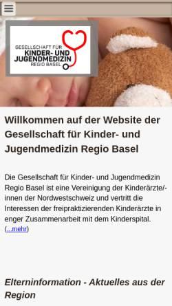 Vorschau der mobilen Webseite www.kindermedizin-regiobasel.ch, Gesellschaft für Kinder- und Jugendmedizin Regio Basel