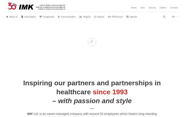 Vorschau von www.imk.ch, IMK Institut für Medizin und Kommunikation AG