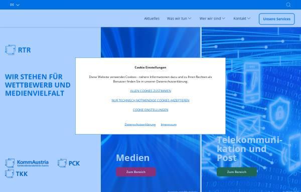 Vorschau von www.rtr.at, Rundfunk und Telekom Regulierungs-GmbH (RTR-GmbH)