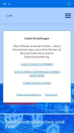 Vorschau der mobilen Webseite www.rtr.at, Rundfunk und Telekom Regulierungs-GmbH (RTR-GmbH)
