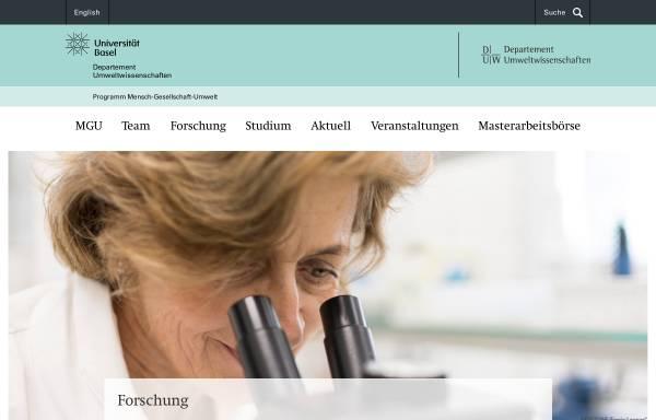 Vorschau von www.unibas.ch, MGU - Mensch Gesellschaft Umwelt