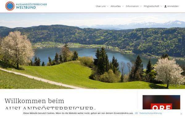 Vorschau von www.weltbund.at, Weltbund der Österreicher im Ausland