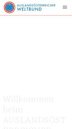 Vorschau der mobilen Webseite www.weltbund.at, Weltbund der Österreicher im Ausland