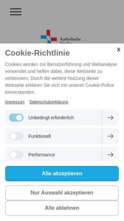 Vorschau der mobilen Webseite www.katholische-kirche-pliensauvorstadt.de, Katholische Kirchengemeinde St. Elisabeth