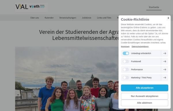 Vorschau von www.vial-ethz.ch, Verein der Ingenieur-Agronomen und Lebensmittelingenieure (VIAL) an der ETH Zürich