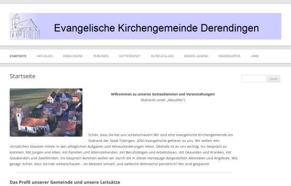 Vorschau von www.ev-kirche-derendingen.de, CVJM und evangelische Kirchengemeinde Derendingen