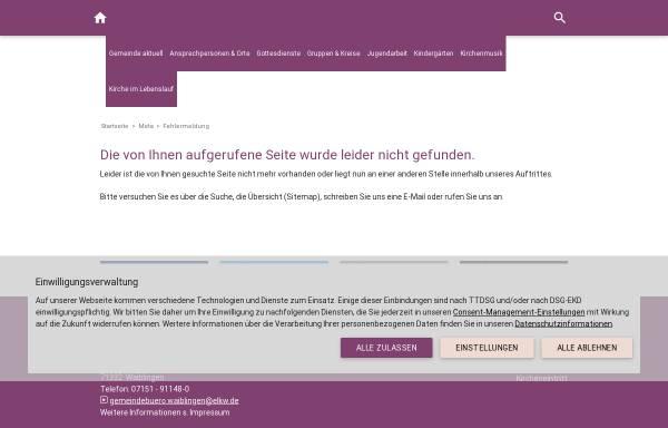Vorschau von www.diekirchengemein.de, Evangelische Kirchengemeinde Korber Höhe