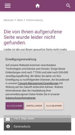 Vorschau der mobilen Webseite www.diekirchengemein.de, Evangelische Kirchengemeinde Korber Höhe